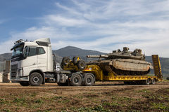 Schwertransport-LKW stockfotos