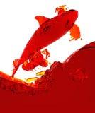 Schwertwal der Flüssigkeit Stockfotografie