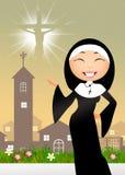 Schwester in der Kirche vektor abbildung