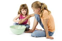 Schwester-Kochen lizenzfreies stockbild