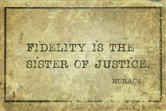 Schwester von Gerechtigkeit Horaz stock abbildung