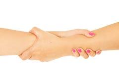 Schwestern, die Hände anhalten Lizenzfreies Stockfoto