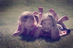 Schwestern und Freunde Instagram Lizenzfreies Stockfoto