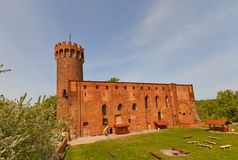 Schwetz slott (1350) av Teutonic beställning Swiecie Polen Royaltyfria Bilder