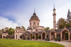 Schwetzingen, Baden Wuerttemberg, Alemanha, 10 09 2018 Mesquita dentro fotografia de stock