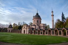 Schwetzingen palace garden and mosque royalty free stock photography
