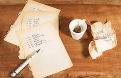 Schwierige Entscheidung mit einem Tasse Kaffee Lizenzfreie Stockfotografie