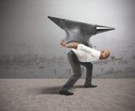 Schwierige Karriere im Geschäft Stockbilder