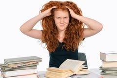 Schwierige Studien Stockbild