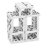 Schwieriger Aufbau von Dominos Lizenzfreies Stockbild