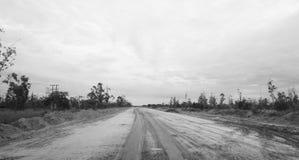 Schwieriger Straßenzustand in Mosambik Stockfoto