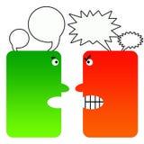 Schwieriges Gespräch lizenzfreie abbildung