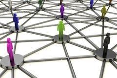 Schwieriges menschliches Sozialnetz stock abbildung