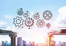 Schwierigkeiten im Geschäfts- und Teamwork-Konzept Stockbilder