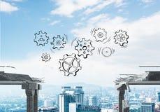Schwierigkeiten im Geschäfts- und Teamwork-Konzept Lizenzfreie Stockfotos