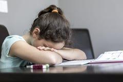 Schwierigkeiten mit dem Lernen lizenzfreies stockbild