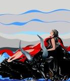Schwimmen auf den Stier Lizenzfreies Stockfoto