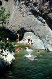 Schwimmen in der Natur Lizenzfreies Stockfoto