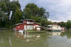 Schwimmen-Haus Lizenzfreies Stockbild