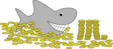 Schwimmen im Geld Lizenzfreies Stockfoto