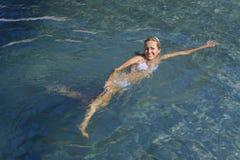 Schwimmen im Mittelmeer Lizenzfreies Stockbild