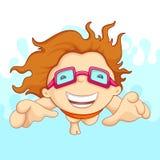 Schwimmen-Junge vektor abbildung
