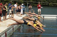 Schwimmen-Renntauchen lizenzfreie stockbilder
