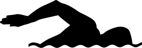 Schwimmen-Schattenbild lizenzfreie abbildung