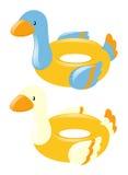Schwimmen schellt Form der Ente Stockfotos