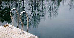 Schwimmen-Strichleiter stockbild