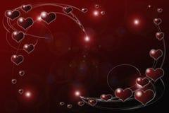 Schwimmen und träumerischer Valentinsgruß Lizenzfreie Stockbilder