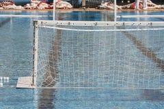 Schwimmen- und Wasserballziel Stockbild
