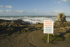 Schwimmen verboten Stockfoto