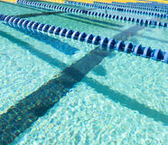 Schwimmen-Weg-Markierung Stockbild