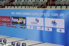 Schwimmen-Weltcupmeisterschaft 2012 Dubai-Fina Stockbild