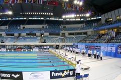 Schwimmen-Weltcupmeisterschaft 2012 Dubai-Fina Stockbilder
