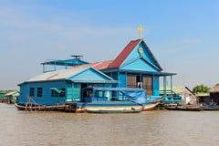 Schwimmende blaue Kirche Stockfotografie