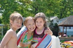 Schwimmenfreunde 2 Stockfoto