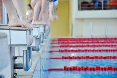 Schwimmenkonkurrenz Stockbild