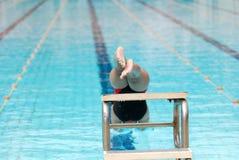 Schwimmenkonkurrenz Stockfoto