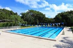 Schwimmenkonkurrenz Pool Stockbild