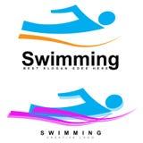 Schwimmenlogo Stockfoto