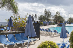 Schwimmenpoolbereich Lizenzfreies Stockbild