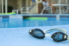 Schwimmenschutzbrillen Stockbild