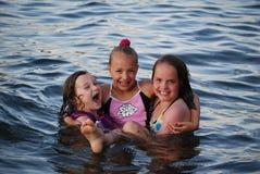 Schwimmenspaß Stockfotografie