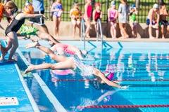 Schwimmentreffen Stockfotografie