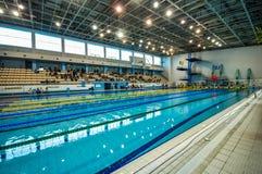 Schwimmenwettbewerb Stockfotografie