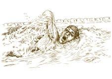 Schwimmer lizenzfreie abbildung
