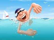 schwimmer Stock Abbildung
