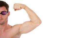 Schwimmer des jungen Mannes, Muskeln Lizenzfreie Stockfotos